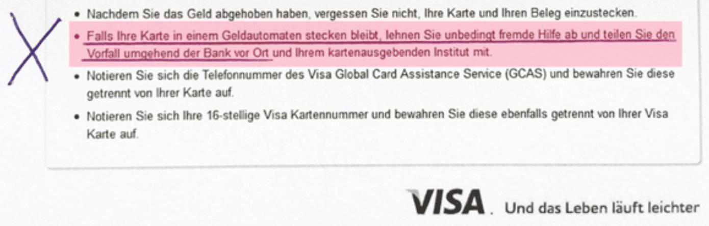 Visa Versprechen