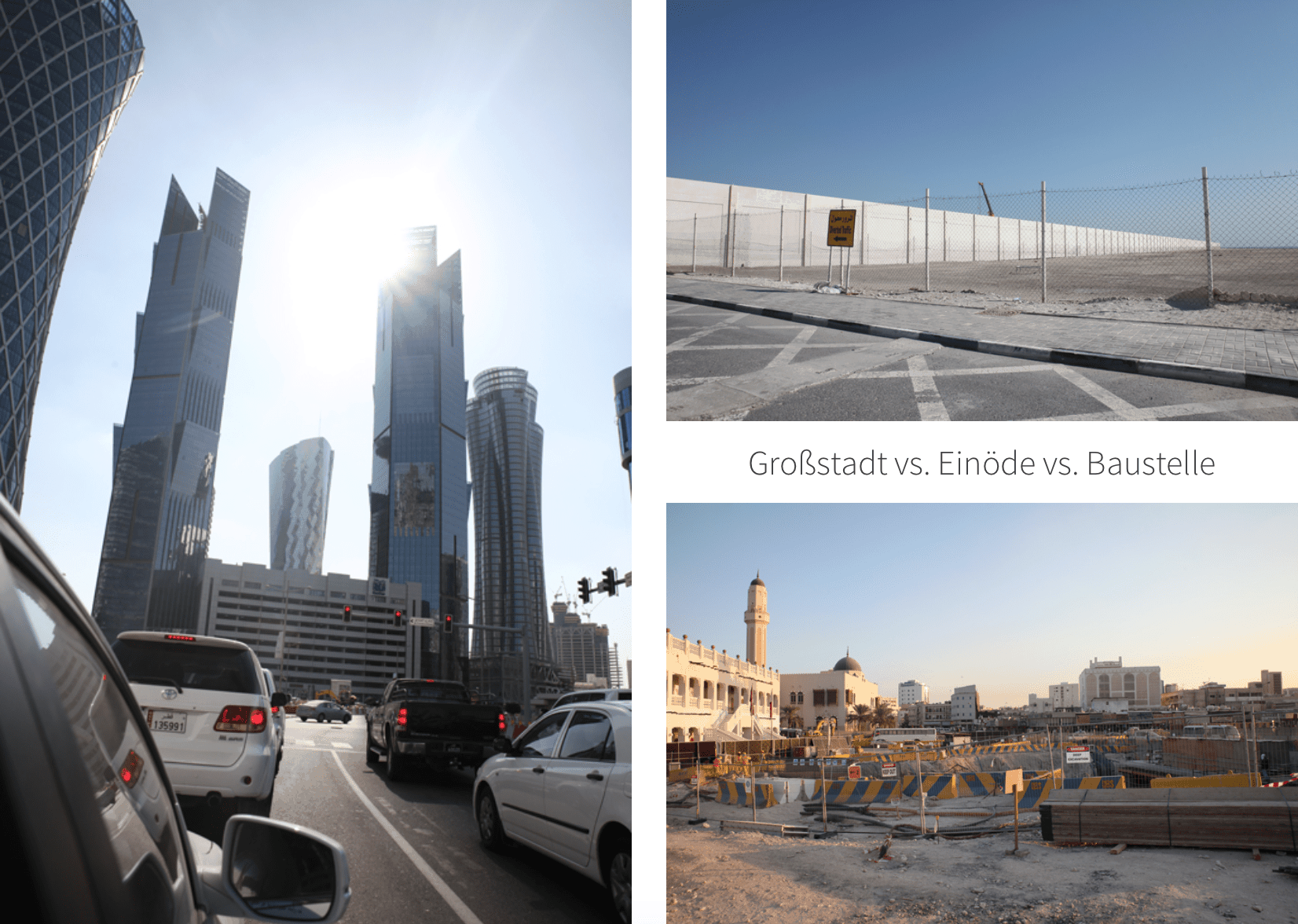 Doha Baustelle Großstadt