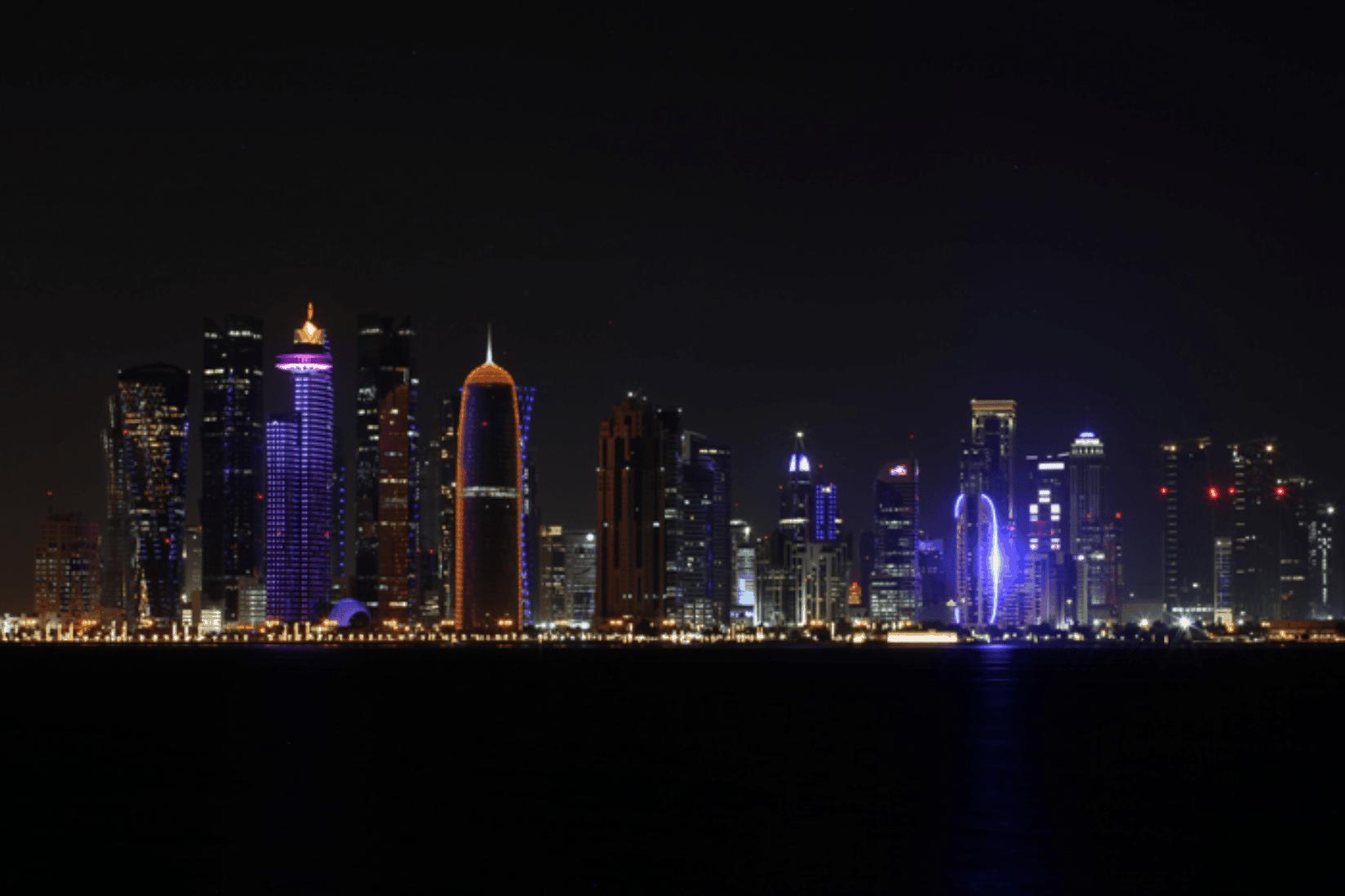 Doha Skyline Nacht