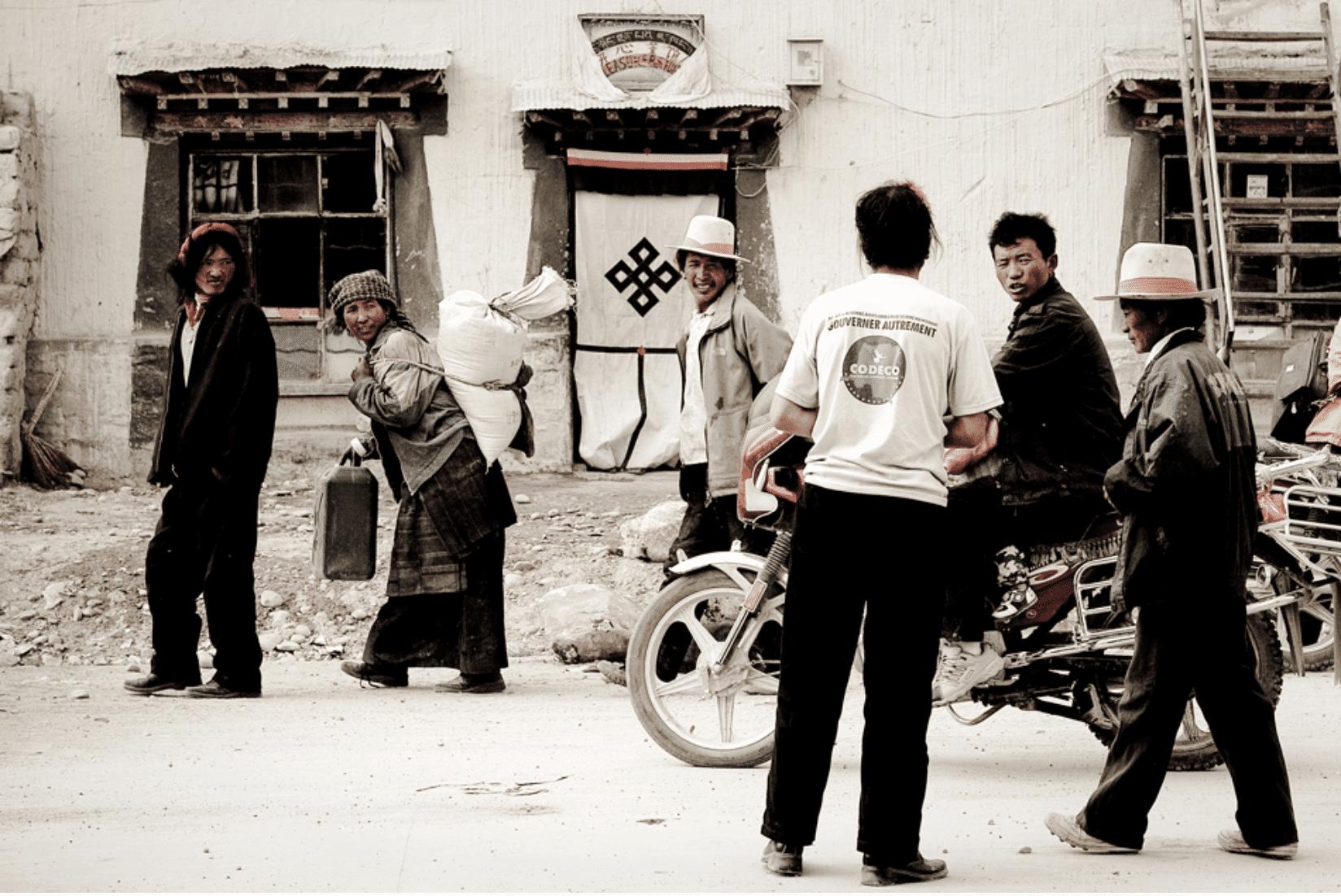 Tibet Dorfleben