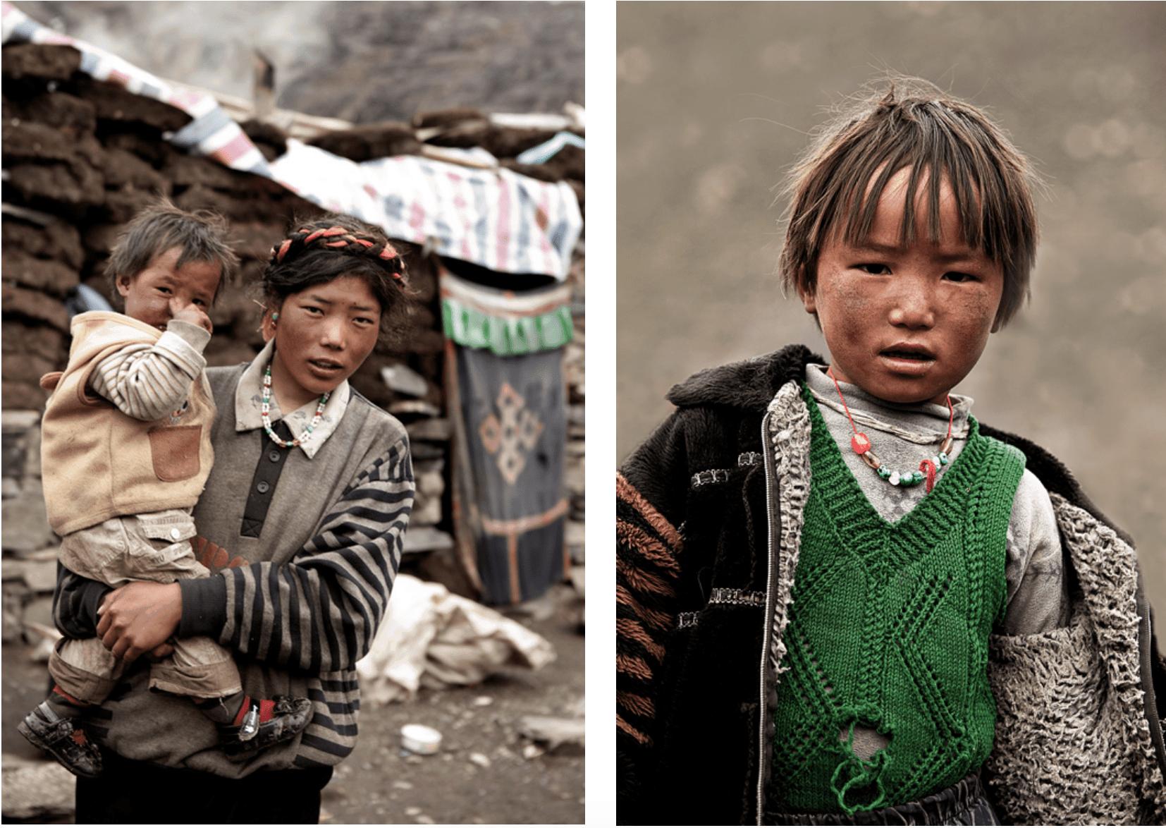 Tibet Einheimische Fotografien