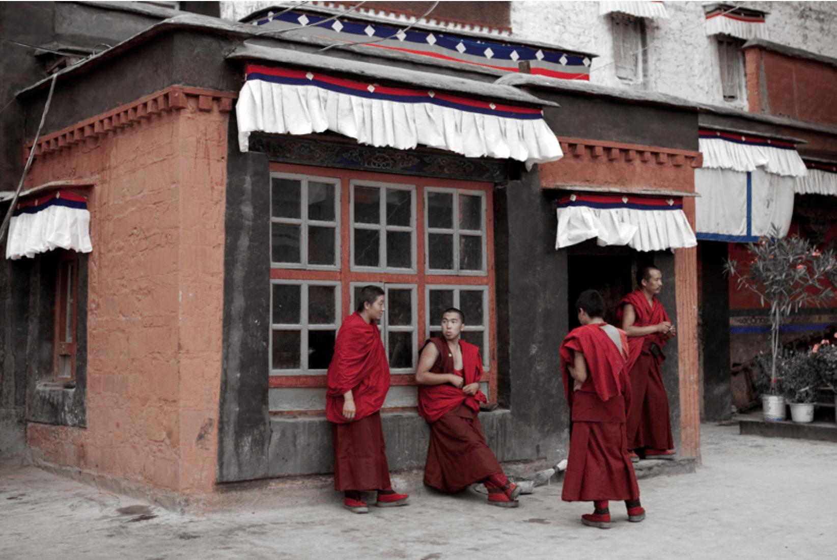 Tibet Kloster Mönche