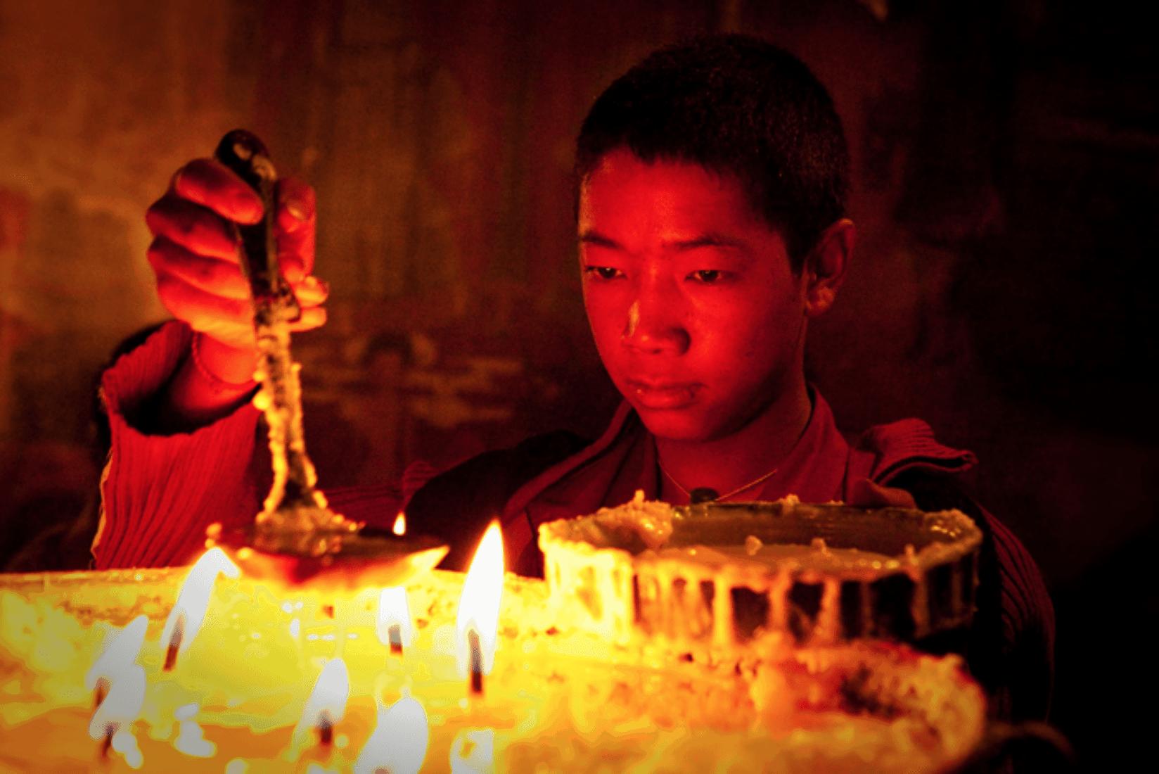 Tibet Mönch