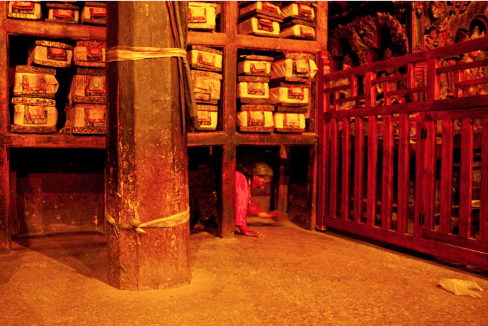 Tibet Kloster zeremonie