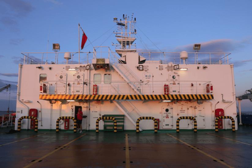 Frachtschiff Überfahrt England Dänemark