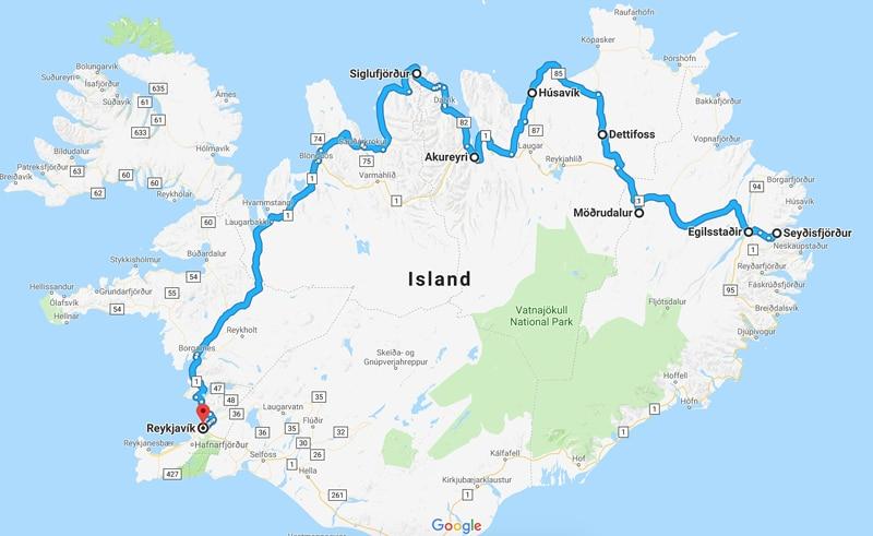 Route Camping Island - Reiseblog Bravebird