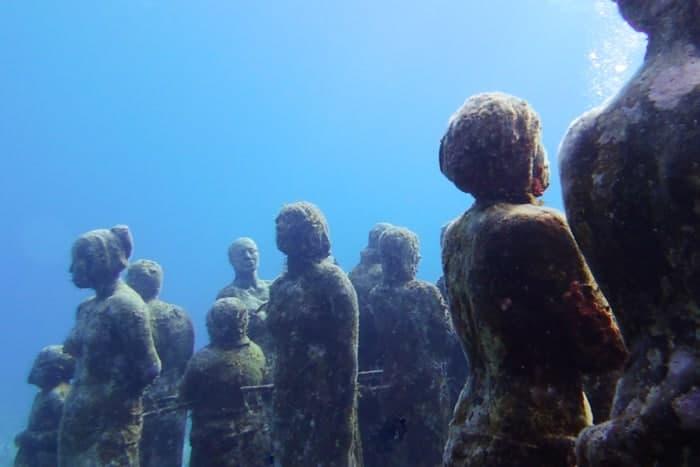 Musa Cancun Skulpturen