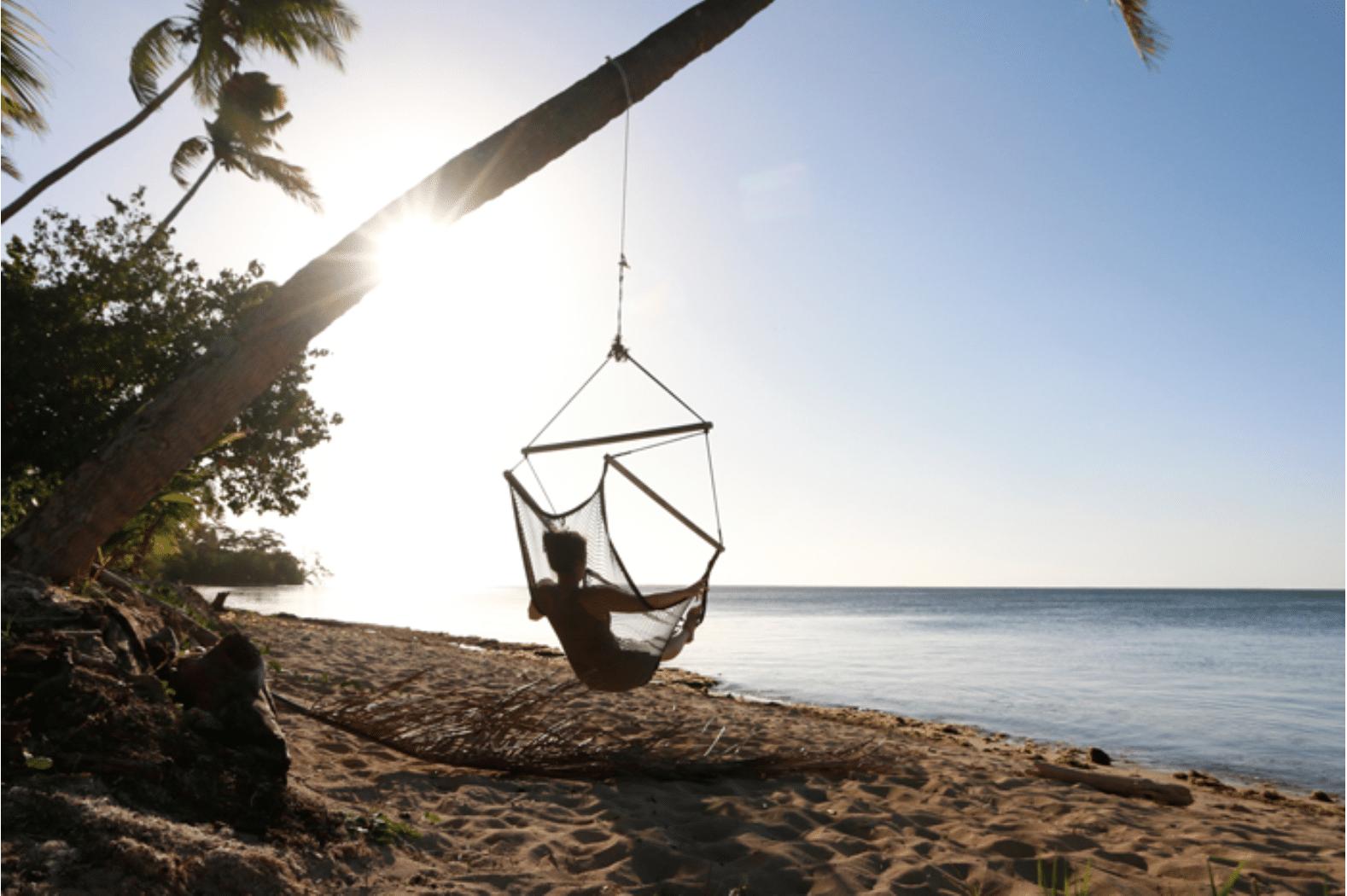 Fidschi: Hängematte, Kokosnuss und Sonnenuntergang <3
