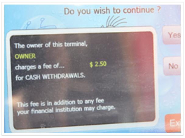 Geldautomat Gebühren