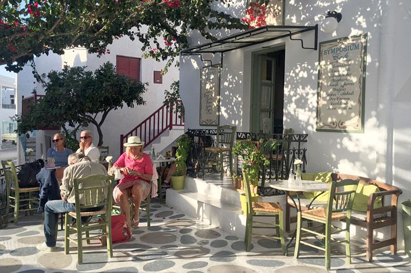 Griechenland Insel Paros - Cafe Parikia - Reiseblog Bravebird