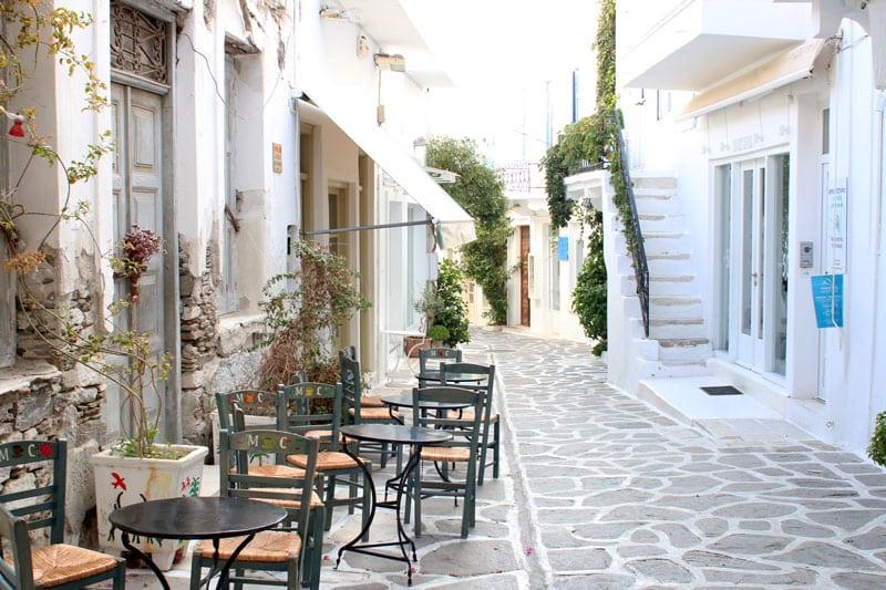 Reiseblog Bravebird - Griechenland Insel Paros - Parikia Sightseeing - Cafes
