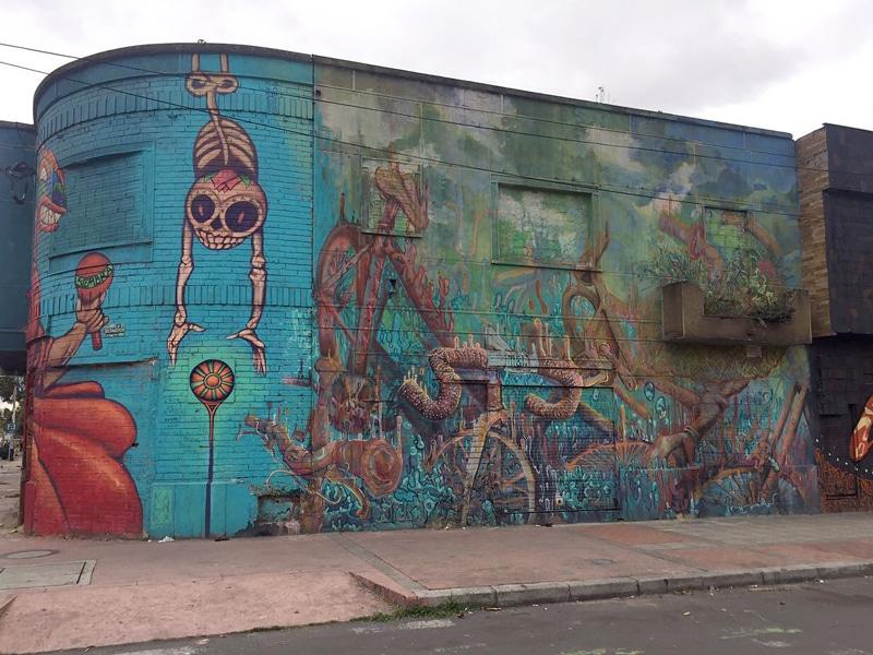 Bogota Biketour - Graffiti Viertel - Reiseblog Bravebird