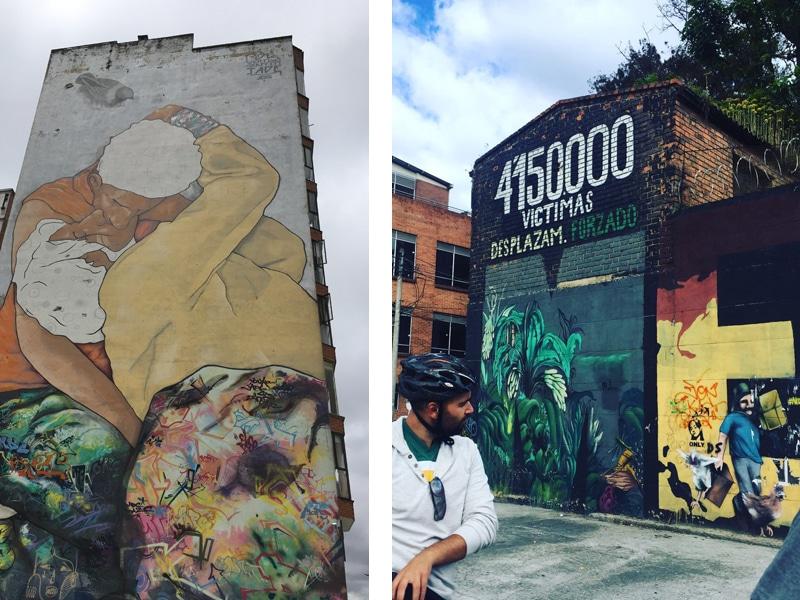 Bogota Biketour - Graffitis - Reiseblog Bravebird