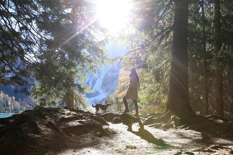 Pragser Wildsee Spaziergang in Südtirol mit Hund - Reiseblog Bravebird