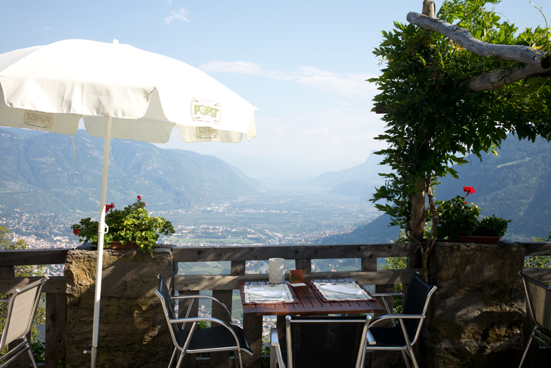 Restaurant bei Meran - Reiseblog Bravebird