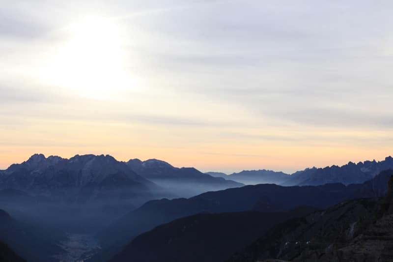 Sonnenaufgang in Südtirol - Drei Zinnen - Reiseblog Bravebird