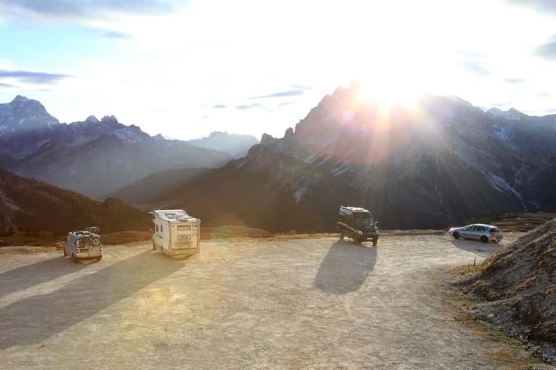 Südtirol Drei Zinnen Nationalpark - Übernachten mit Wohnmobil - Reiseblog Bravebird