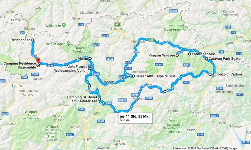 Südtirol zum Nachfragen - Camping-Rundreise - Reiseblog Bravebird