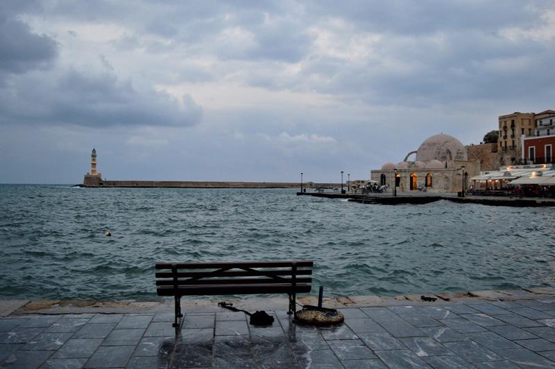 Kreta Chania Hafenpromenade - Reiseblog Bravebird