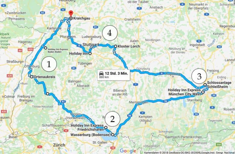 Rundreise durch Süddeutschland - Reiseblog Bravebird