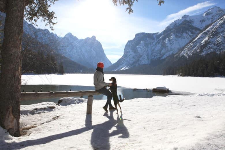 Toblacher See in Südtirol im Winter - Reiseblog Bravebird