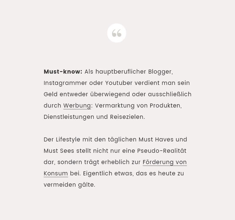 Blogger und Influencer leben von Werbung - Reiseblog Bravebird
