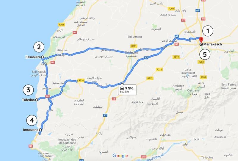 Rundreise durch Marokko von Marrakesch aus - Reiseblog Bravebird