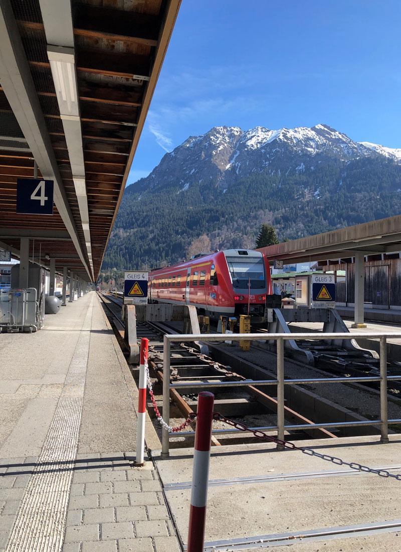 Bahnhof Oberstdorf - Reiseblog Bravebird