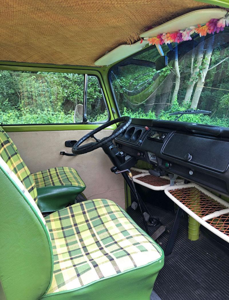 Innenleben T2 Camper - Wohnmobil mieten - Reiseblog Bravebird