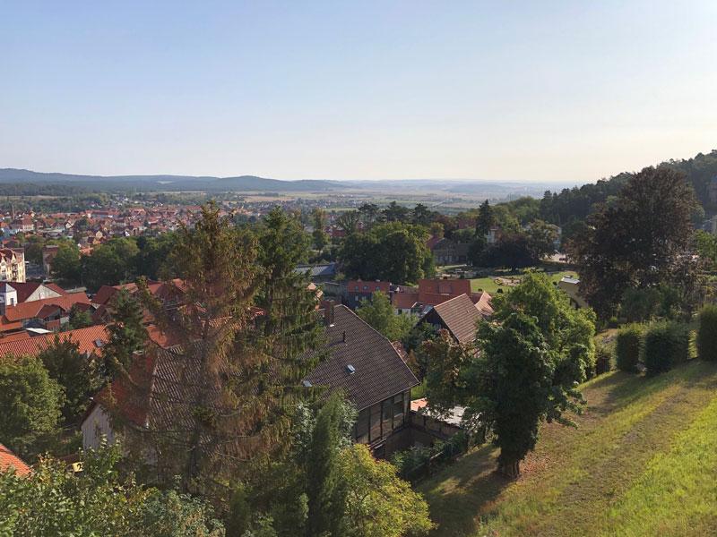 Blankenburg Ausblick von Hotel Obere Mühle - Reiseblog Bravebird