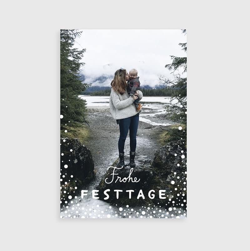 Grußkarten Weihnachtskarten selbst gestalten - Reiseblog Bravebird