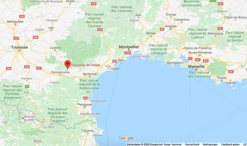 Reisekarte Südfrankreich - Reiseblog Bravebird