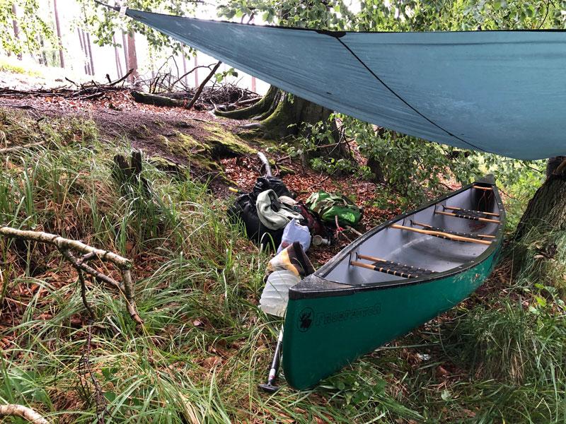 Kanutour bei Regen - Mecklenburgische Seenplatte - Reiseblog Bravebird