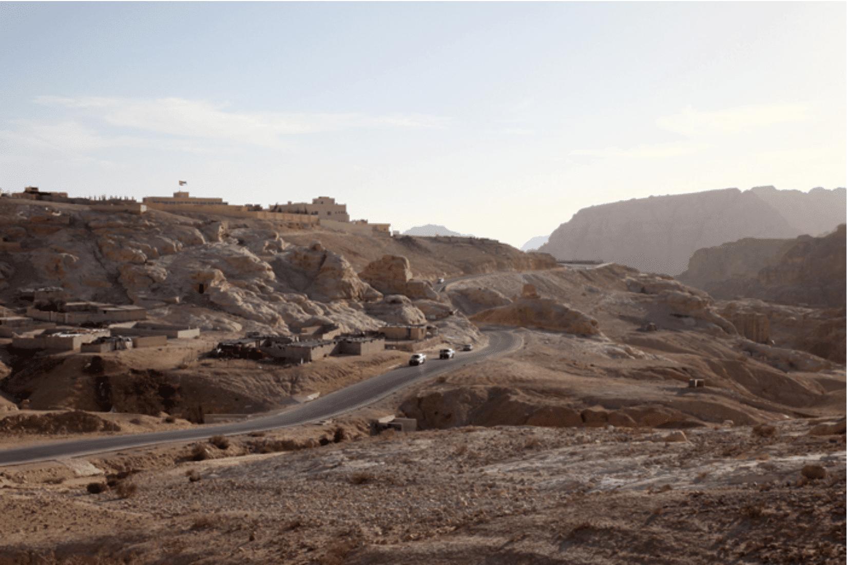Straßen bei Petra Jordanien