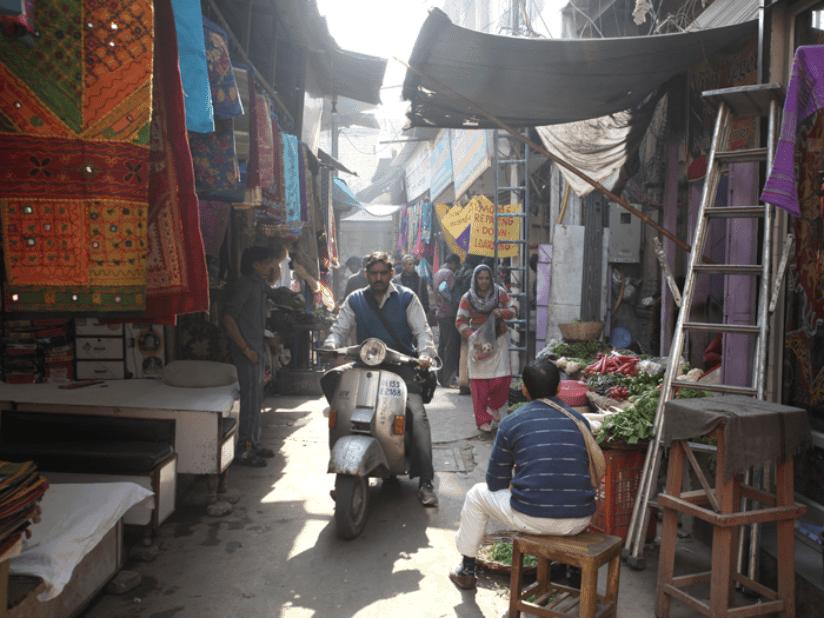Neu-Delhi Chaos in der Stadt