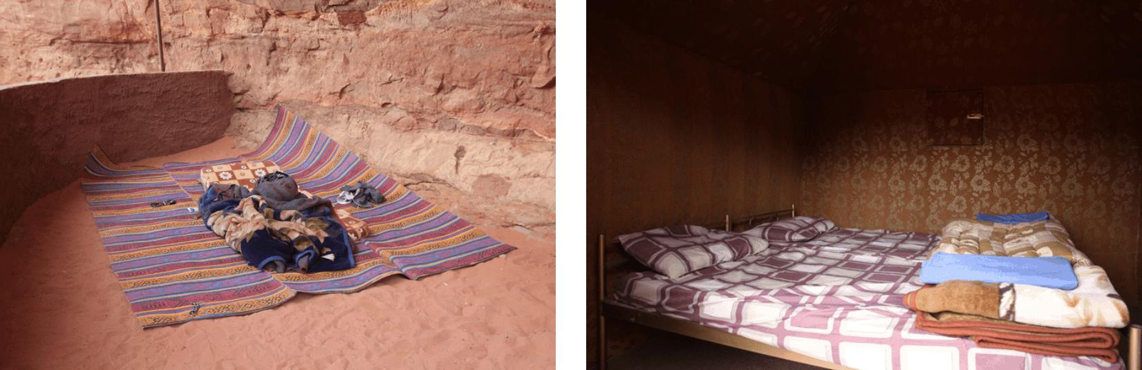 Wadi Rum Schlafen unter freiem Himmel