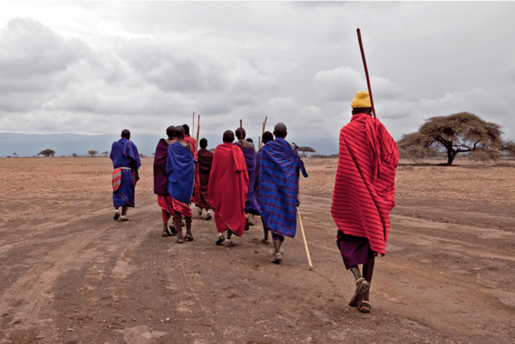 Massai Männer Reise