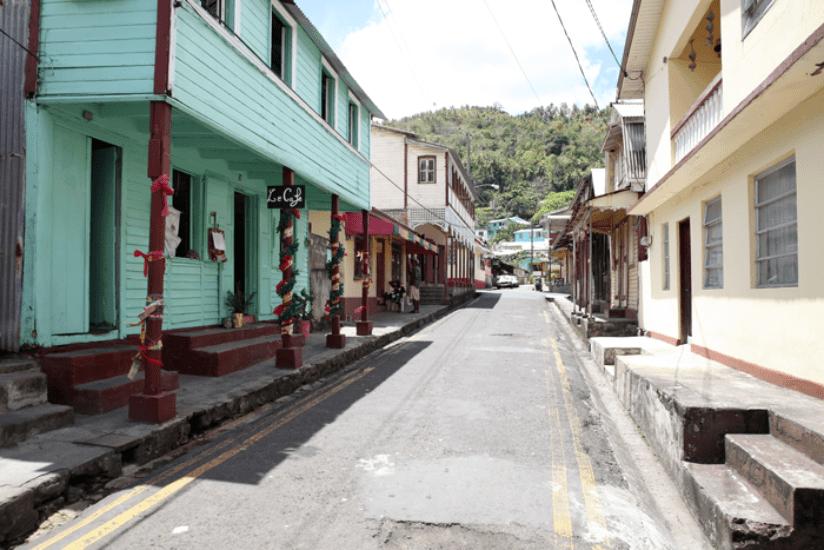 St. Lucia Straßenleben