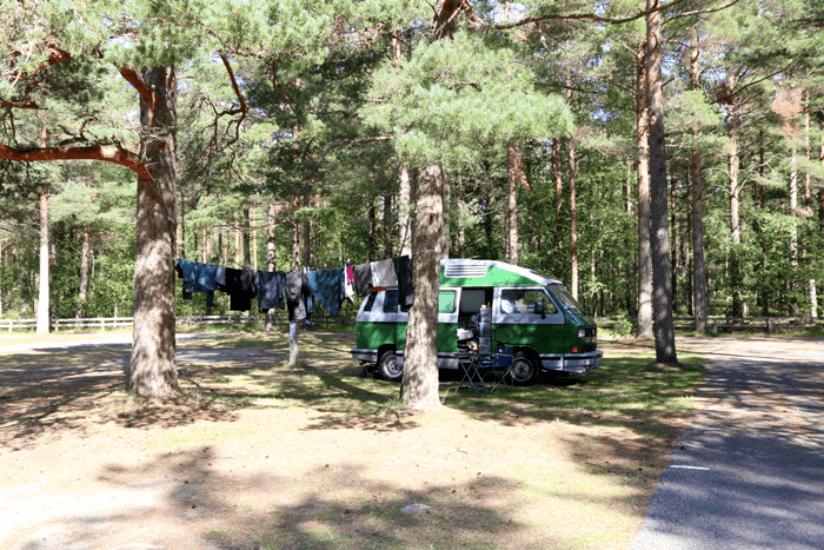 Norwegen Campingplatz T3 VW