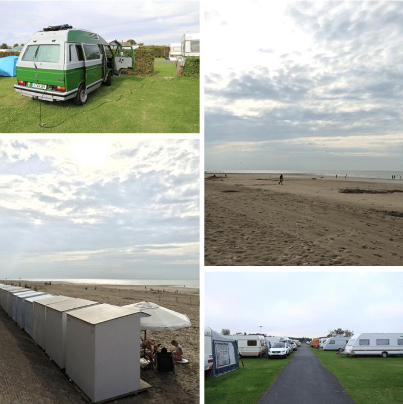Belgien überfüllter Campingplatz