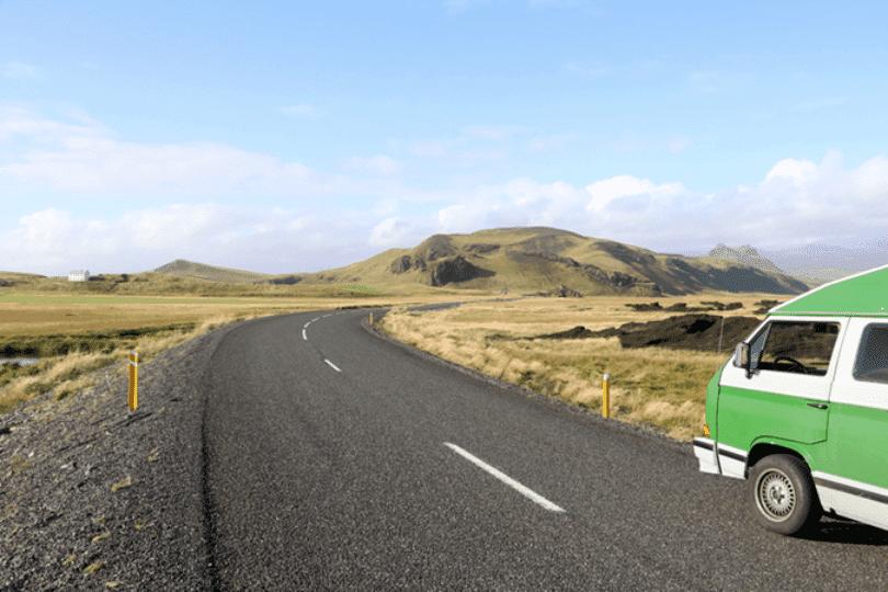 Island mit dem Camper