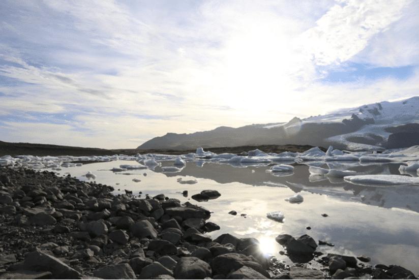 Island Eis Lagune