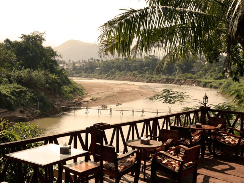 Luang Prabang Essen am Fluss